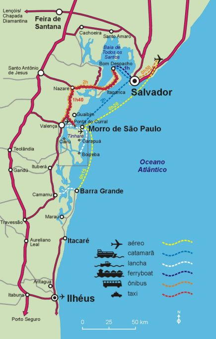 Bahia and Morro de Sao Paulo Map